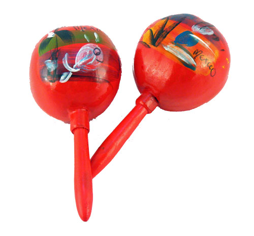 Vintage-Style Mexican Gourd Maracas (color varies)