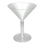 Giant Lightweight Plastic Martini Glass - 2 sizes