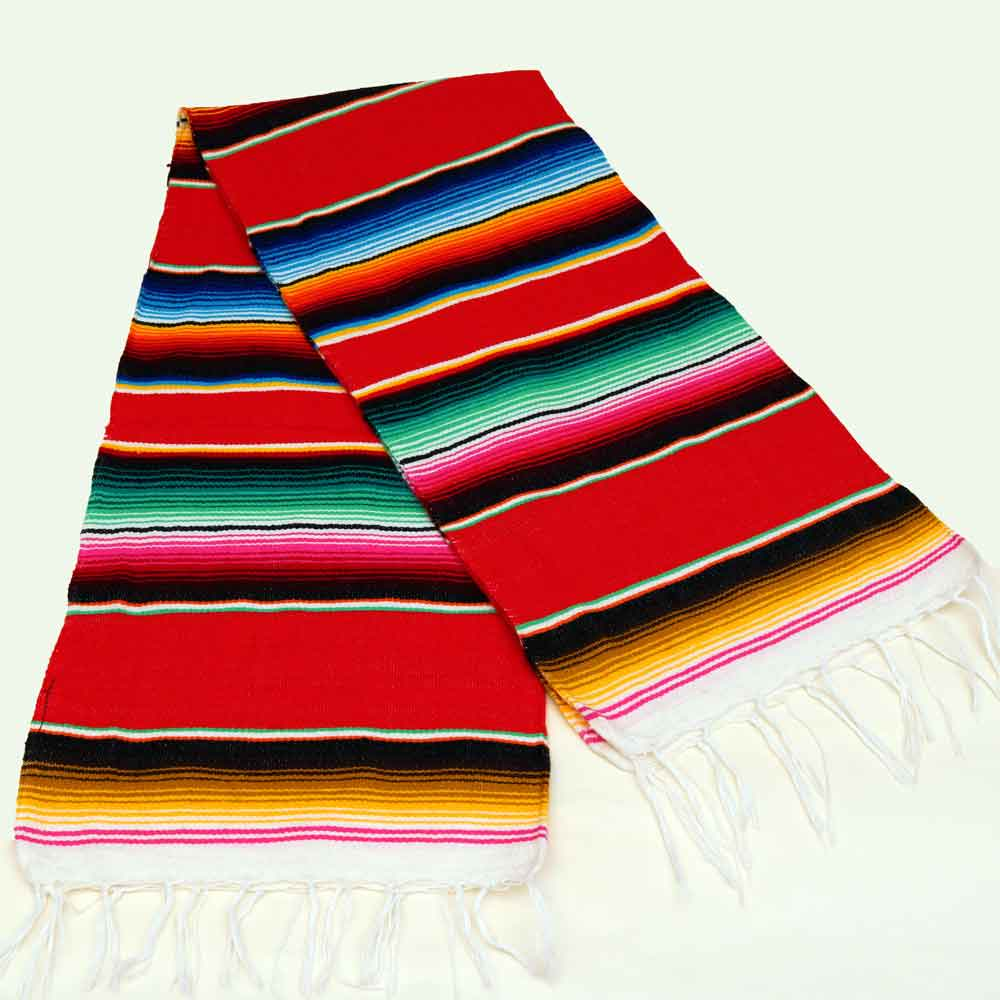 Authentic Mexican Serape Blanket/Runner 24
