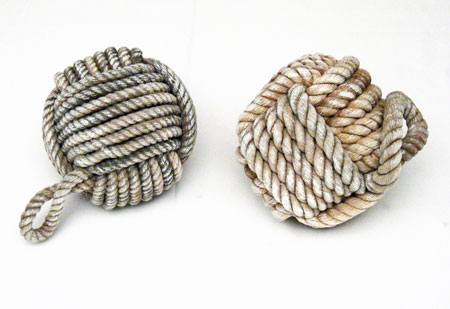 Monkey Fist/Paw Rope Knot Decoration - Natural