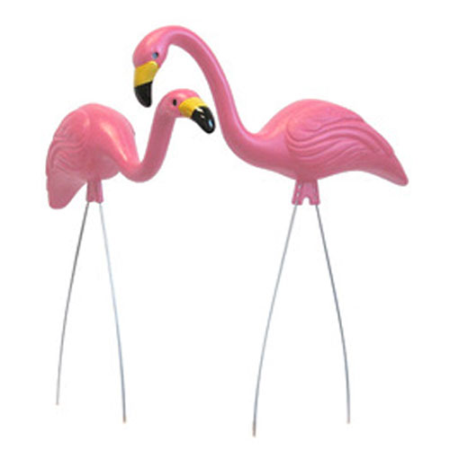 Retro Yard Pink Flamingos - Male & Female