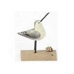 Carved Wood Sandpiper Shore Bird - Style varies