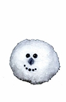 Snowball Face Christmas Ornament