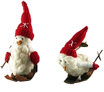 Downhill Skiing Snowman Ornament