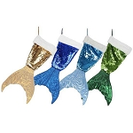 Shimmering Sequined Mermaid's Tail Stocking/Decoration - 4 colors