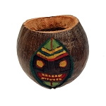 Carved Coconut Tiki Pot | Planter | Vase - 3 styles