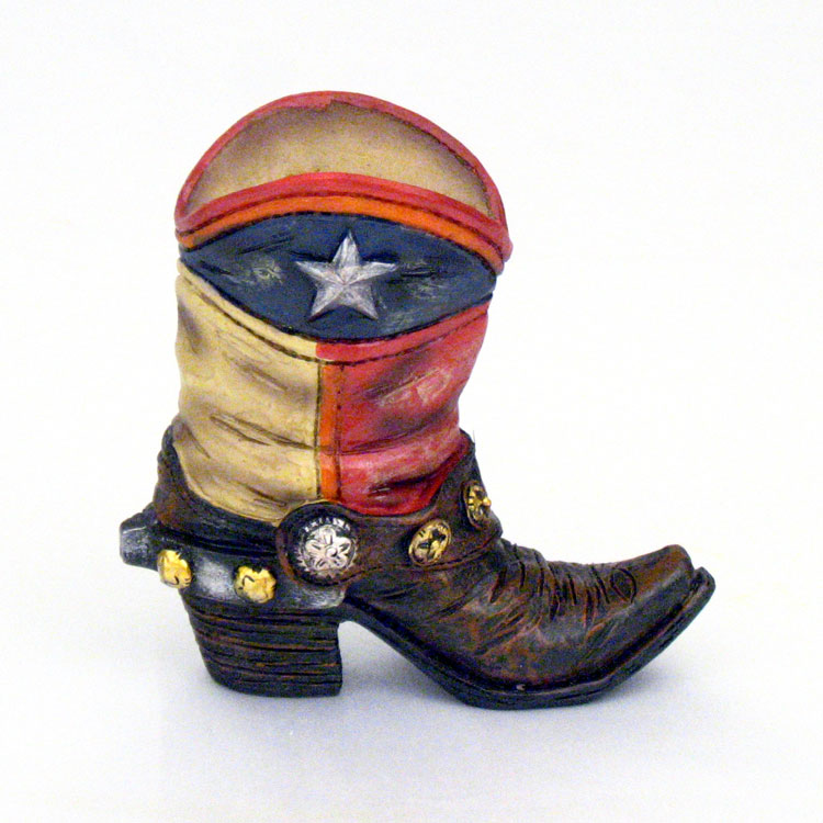 4 Quot Lone Star Flag Cowboy Boot Mini Vase Texas And