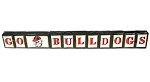 University of Georgia GO BULLDOGS Wood Letter Blocks