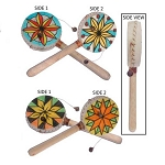 Colorful Hand-Held Pellet Drum - 2 styles