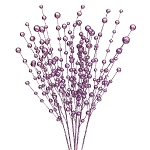 Lavender Purple Glitterball Sprays (6)