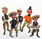 Vintage-Style Mexican Marionette Puppets