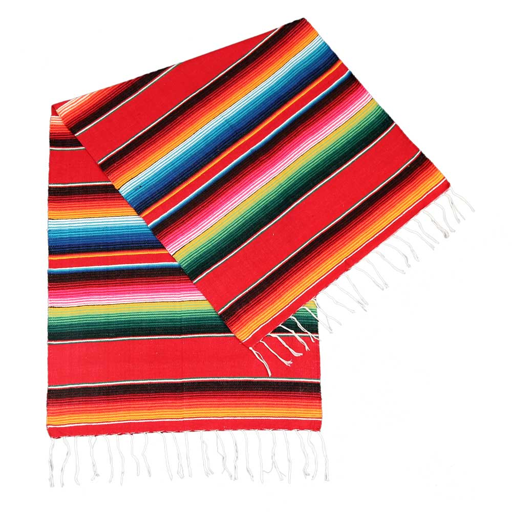 Authentic Mexican Serape Blanket - 24