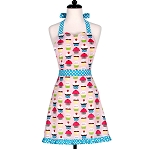 Lightweight Cupcake Hostess Apron With Ruffles - 2 sizes