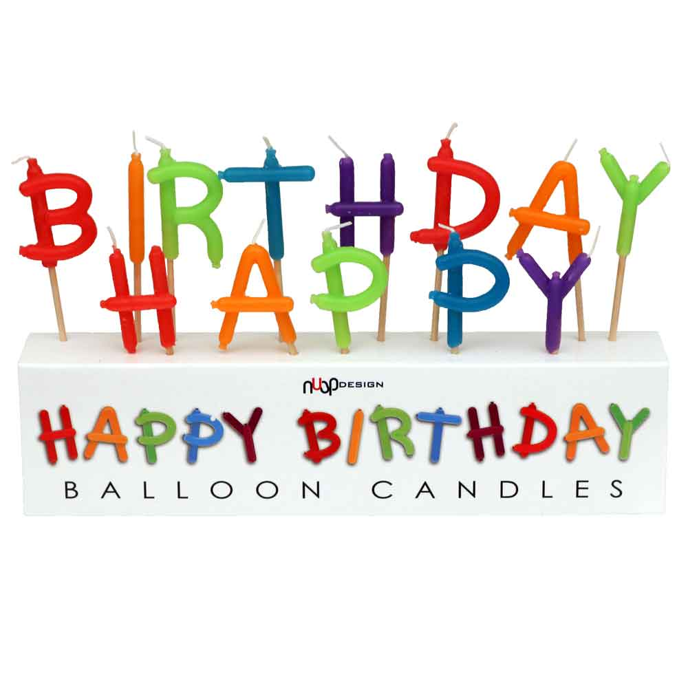 Add To My Lists Happy Birthday Balloon Art Candles