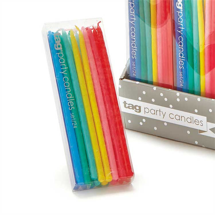 Assorted Mini Taper Birthday Party Candles