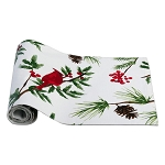 Red Cardinal Pine & Holly Winter Table Runner