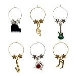All That Jazz Music Themed Wine Charms (6)