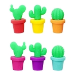 Cactus Wine Charms & Drink Glass Markers (6)