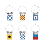 Nautical Signal Flags Wine Charms (6)