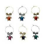 Sea Turtles Wine Charms (6)