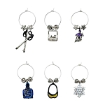 Hit The Ski Slopes Themed Wine Charms (6)