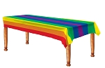 Gay Rainbow Flag Plastic Tablecover