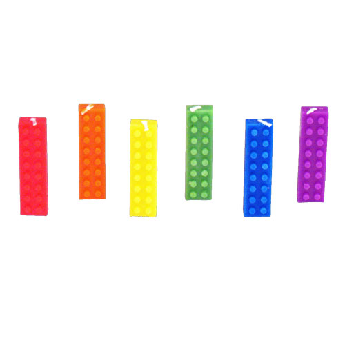 Blokz Party Candles In the Style of Lego Blocks