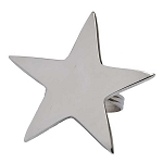 5-Point Polished-Silver Star Napkin Ring