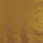 Glittering Gold Paper Napkins (50) - 2 sizes