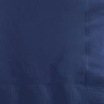 Navy Blue Beverage Napkins (50)