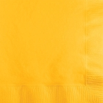 School Bus Yellow Paper Napkins (50) - 2 sizes