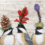Madcap Chickadee Sisters Napkins (20) - 2 sizes