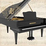 Concerto Piano Napkins (20) - 2 sizes