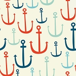 Retro Nautical Seafarer Anchor Beverage Napkins (24)