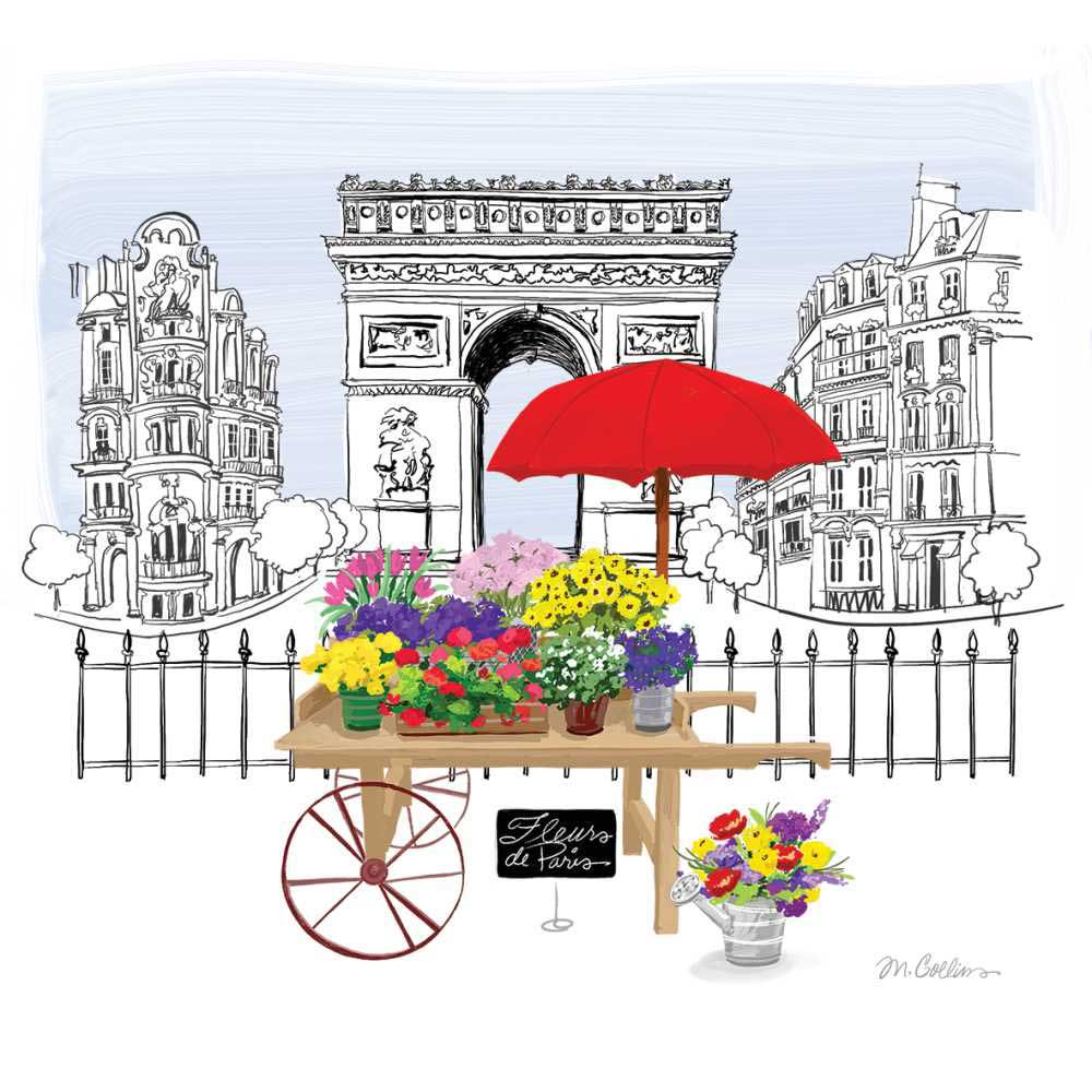 Fleurs de Paris Napkins - 2 sizes