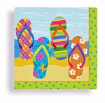 Beach Flip Flop Beverage Napkins