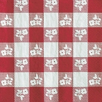 Red Gingham Plaid Beverage Napkins