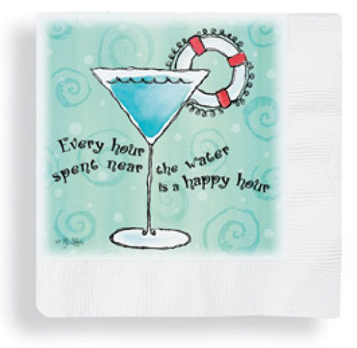 retro style nautical beverage napkins
