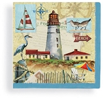 Seaside Lighthouse Memories Beverage Napkins