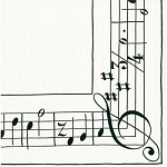 Musical Score Napkins - 3 sizes