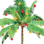 Coastal Christmas Palm Tree Beverage Napkins (20)