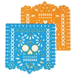 Printed Papel Picado Sugar Skull Beverage Napkins