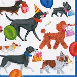 Birthday Party Pooch Parade Napkins - 2 sizes