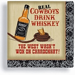 Real Cowboys Drink Whiskey Beverage Napkins