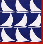 Sailboat Waves Beverage Napkins (20)
