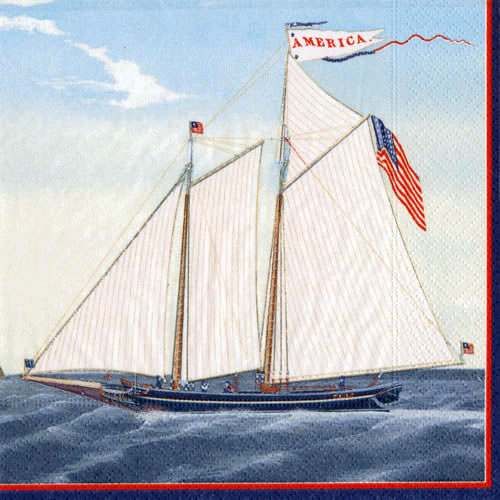 Schooner America Napkins - 3 sizes **CLEARANCE**