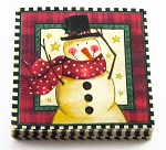 Antique Snowman Beverage Napkins