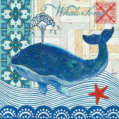 Whale Song Beverage Napkins (20)