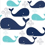 Whimsical Whales Beverage Napkins