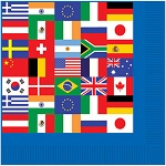 International World Flags Beverage Napkins (16)